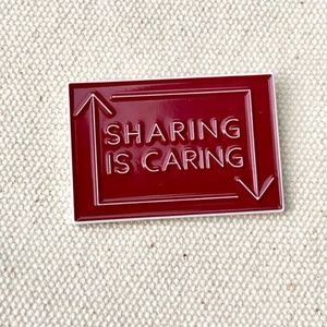 Sharing is Caring • Posh Swag, Lapel Pin, Fashion
